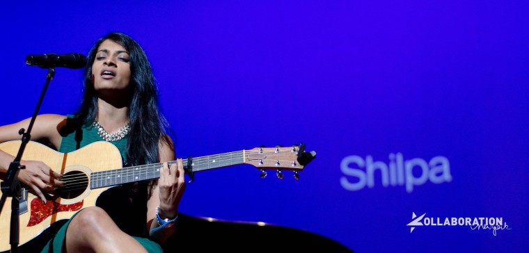 Vocalist and guitarist Shilpa performs during Kollaboration New York 2013.