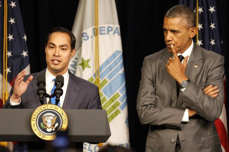 Image: Barack Obama, Julian Castro