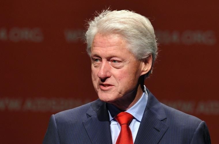 Image: Former US president Bill Clinton