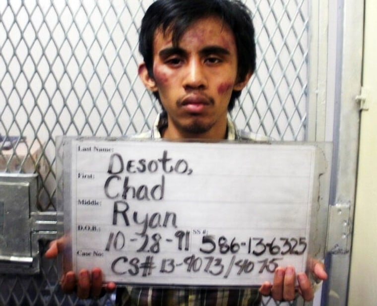 Image: Chad Ryan Desoto in police photo taken on Feb. 13, 2013