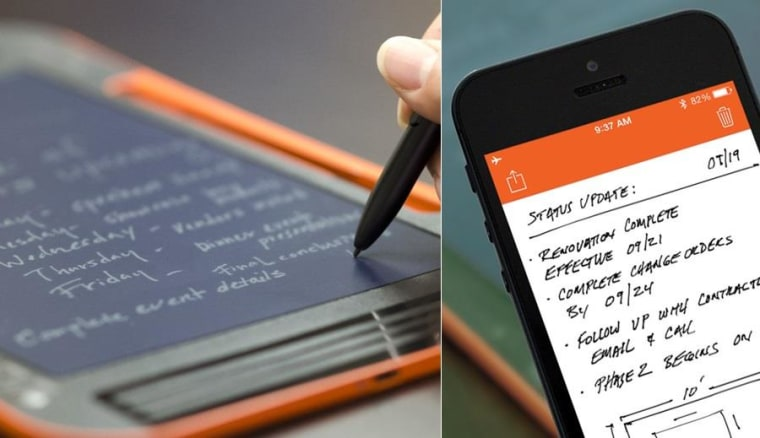 The Sync feels great to write on, and backs your notes and sketches up to your device.