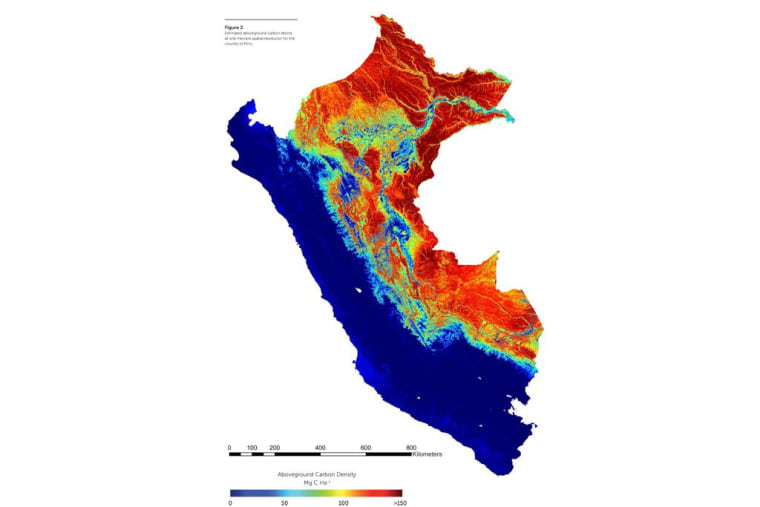 Scientists at the Carnegie Institute for Science unveiled the first high-resolution map of the carbon stocks on land throughout the country of Perú.