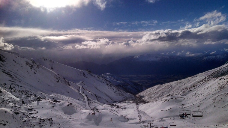 Image: The Remarkables ski area near Queenstown, New Zealand