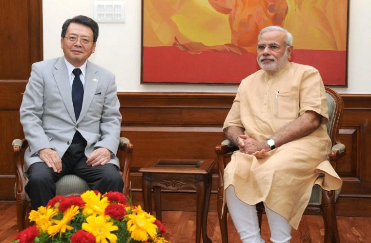 Image: INDIA-JAPAN-POLITICS