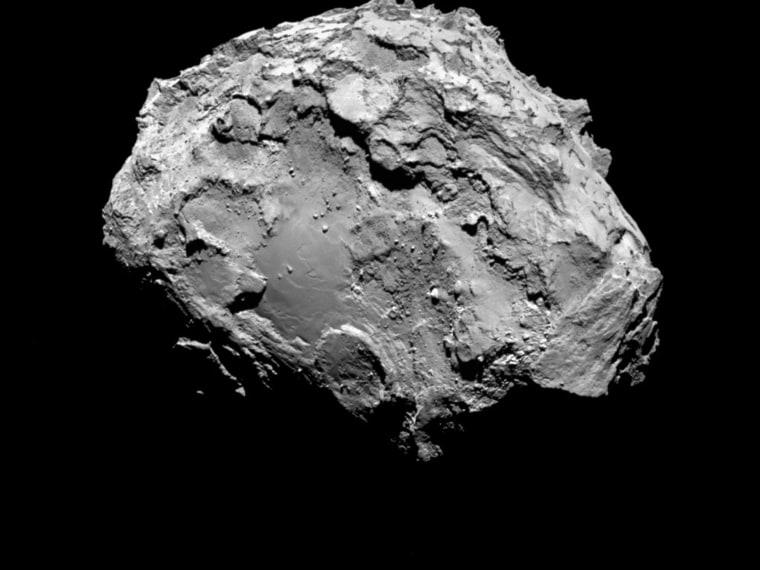 Image: A handout photo of comet 67P/Churyumov-Gerasimenko by Rosetta's OSIRIS narrow-angle camera
