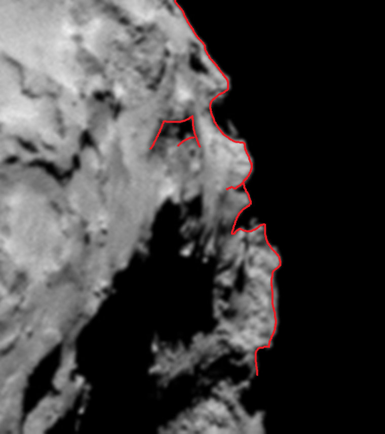 Image: Face on the Comet