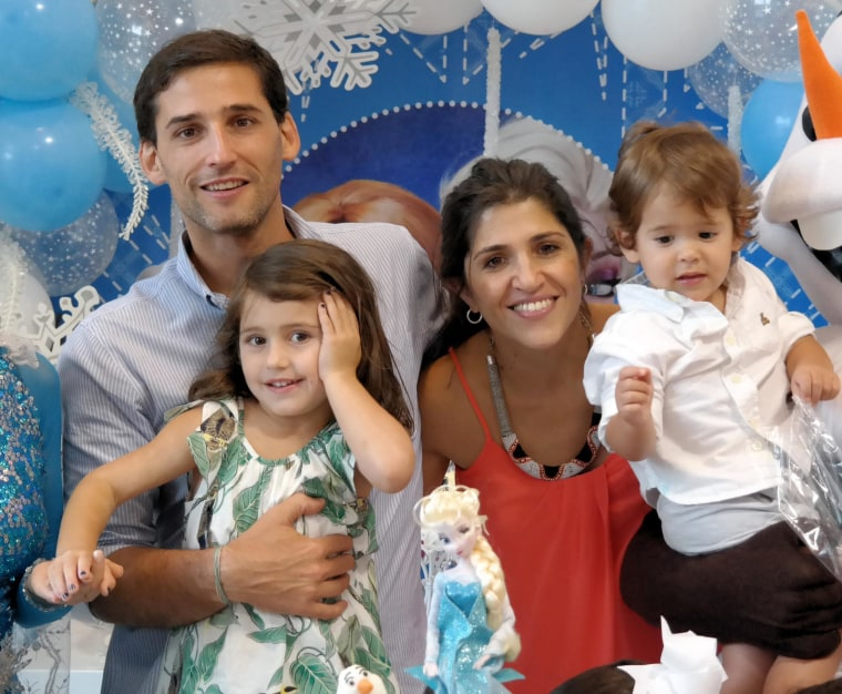 Image: Lisa Vittore, pictured here with her husband and children