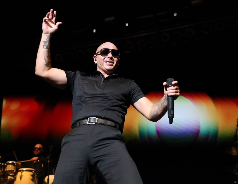 Image: Pitbull in concert at the Indiana State Fair in Indianapolis