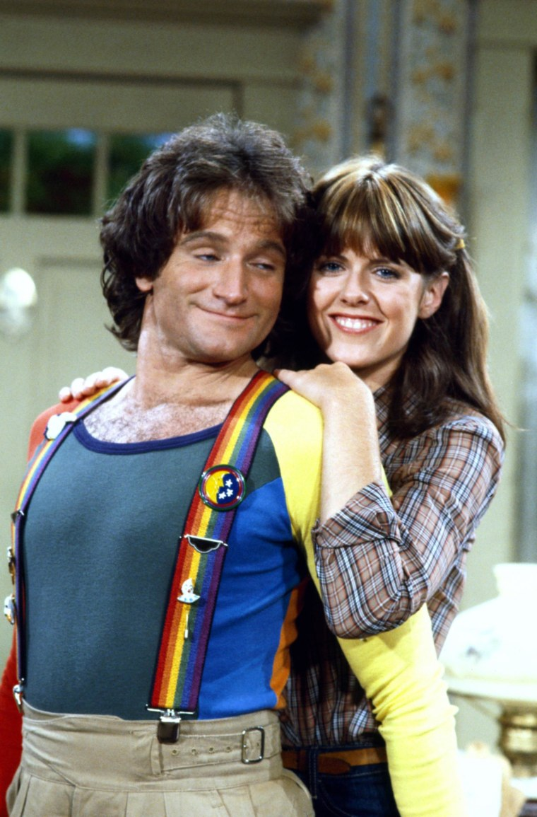 """Robin Williams and Pam Dawber in """"Mork and Mindy,""""1978-82."""