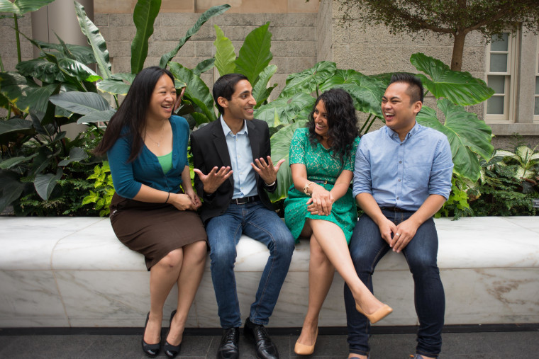 The Brain Trust co-founders are (left-to-right) Olivia Chow, Rohan Grover, Deepa Kunapuli, Vincent Paolo Villano.