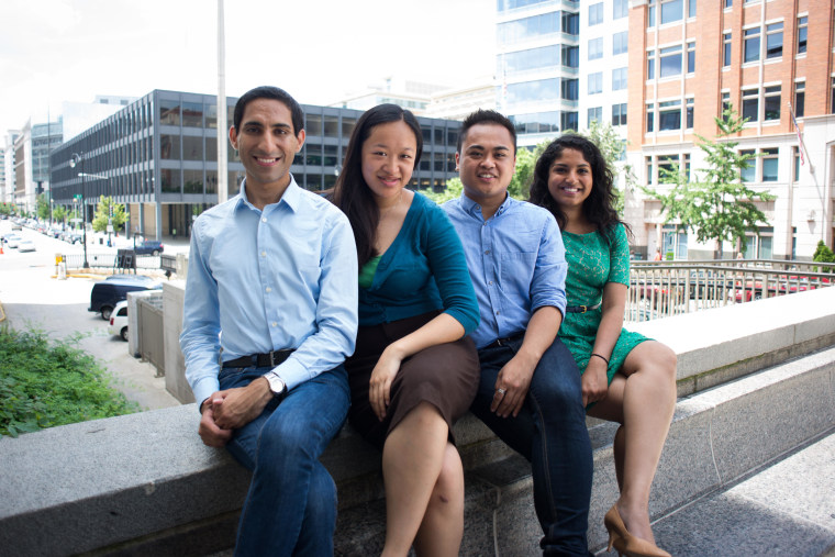 The Brain Trust co-founders are (left-to-right) Rohan Grover, Olivia Chow, Vincent Paolo Villano, and Deepa Kunapuli.