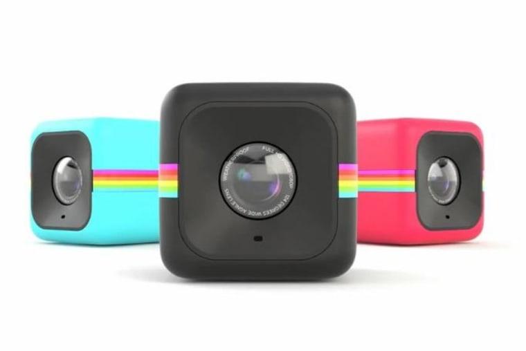 The Polaroid Cube action camera.
