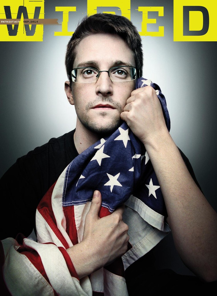 Edward Snowden on the cover of WIRED magazine.