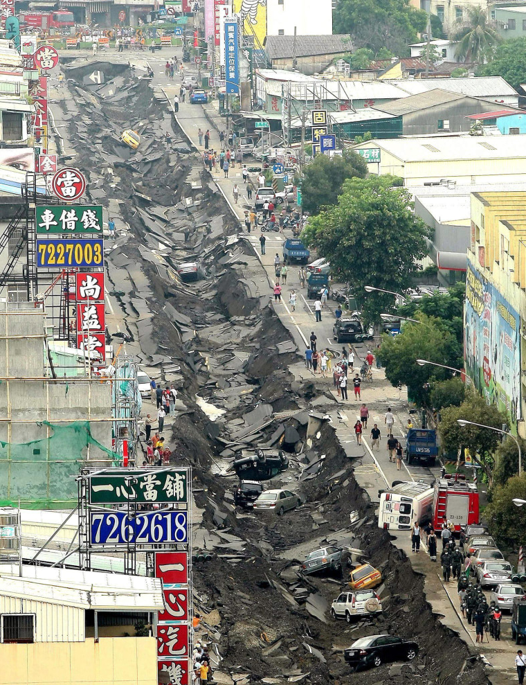 Image: Taiwan underground explosions