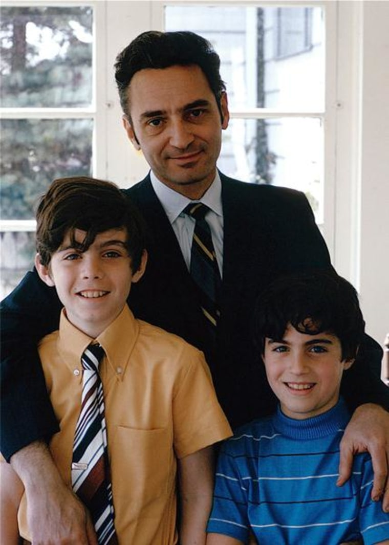 Eric Marcus, left, is pictured with his father, Irwin, and brother.