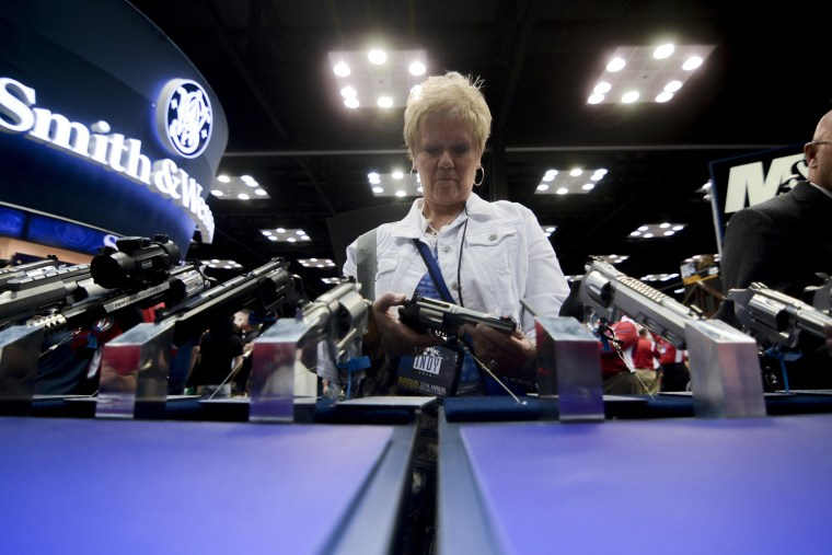 Image: At the NRA convention