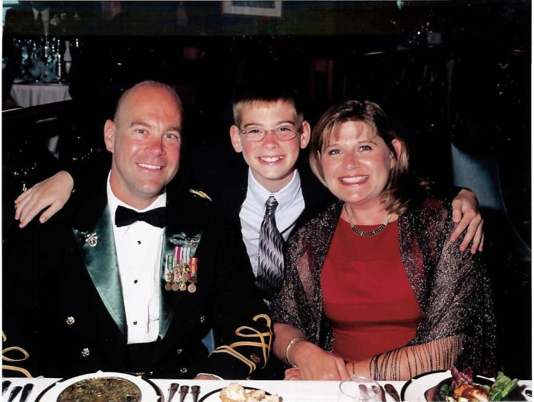 Brian and Kathy Haugen with their only son Taylor, who died in a football injury in 2008.