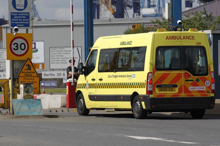 Image: BRITAIN-IMMIGRATION-TRANSPORT-HEALTH