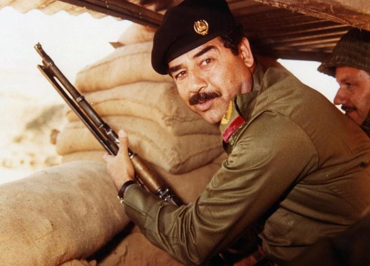 Former Iraqi President Saddam Hussein.