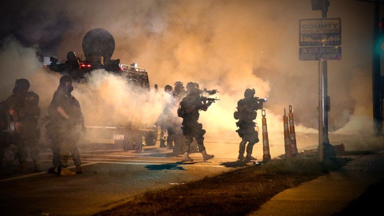 Violent clashes led to 78 arrests Monday night in Ferguson, Missouri.
