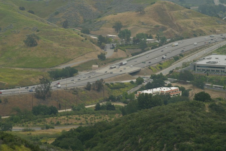 Image: This stretch of U.S. 101, known as the Liberty Canyon area, is considered the best spot for a Santa Monica Mountains wildlife crossing