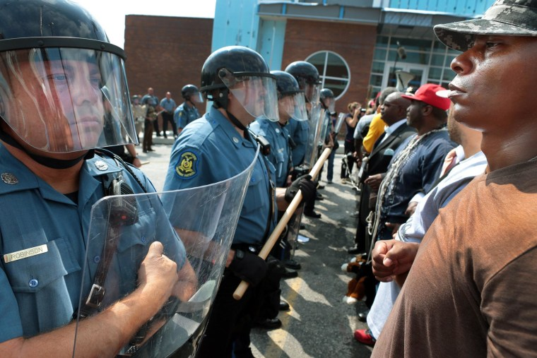 Image: More protests in Ferguson