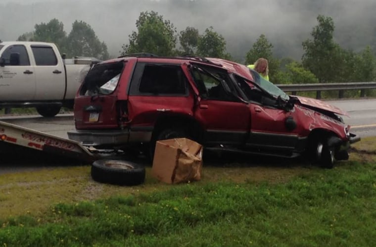 Just before 4 a.m., Seth Grim was driving a 1998 Ford Explorer with Pennsylvania plates and rolled it over on Interstate 79 near Amma, West Virginia, on Aug. 22.