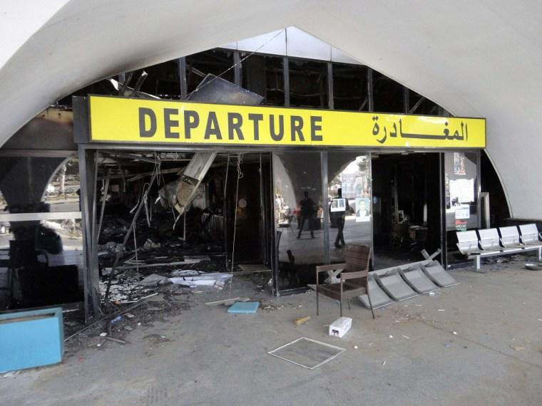 Image: A passenger terminal at Tripoli International Airport on Sunday