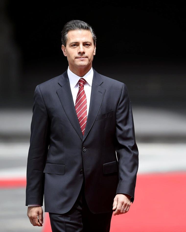 Image: Mexican President Enrique Pena Nieto on July 25.