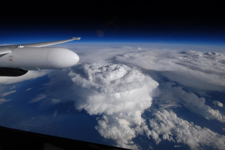 Image: An image taken from NASA's ER-2 aircraft shows a supercell towering 50,000 feet over North Carolina