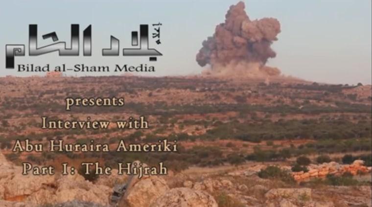 Image: A screen grab from a video by Bilad Al-Sham Media