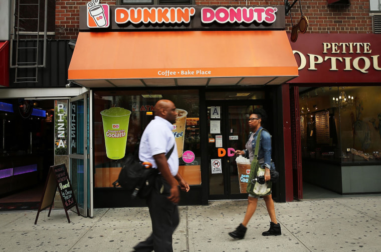 Image: A Dunkin' Donuts cafe on July 25, 2013 in New York City.