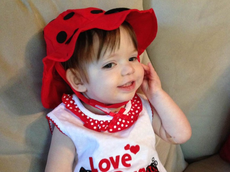 Image: Lucy Blythe Farmer of Austin, Texas, died of dilated cardiomyopathy just three months after her first birthday.