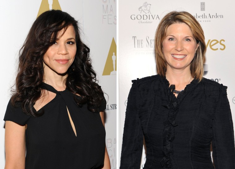 Image: Rosie Perez and Nicolle Wallace