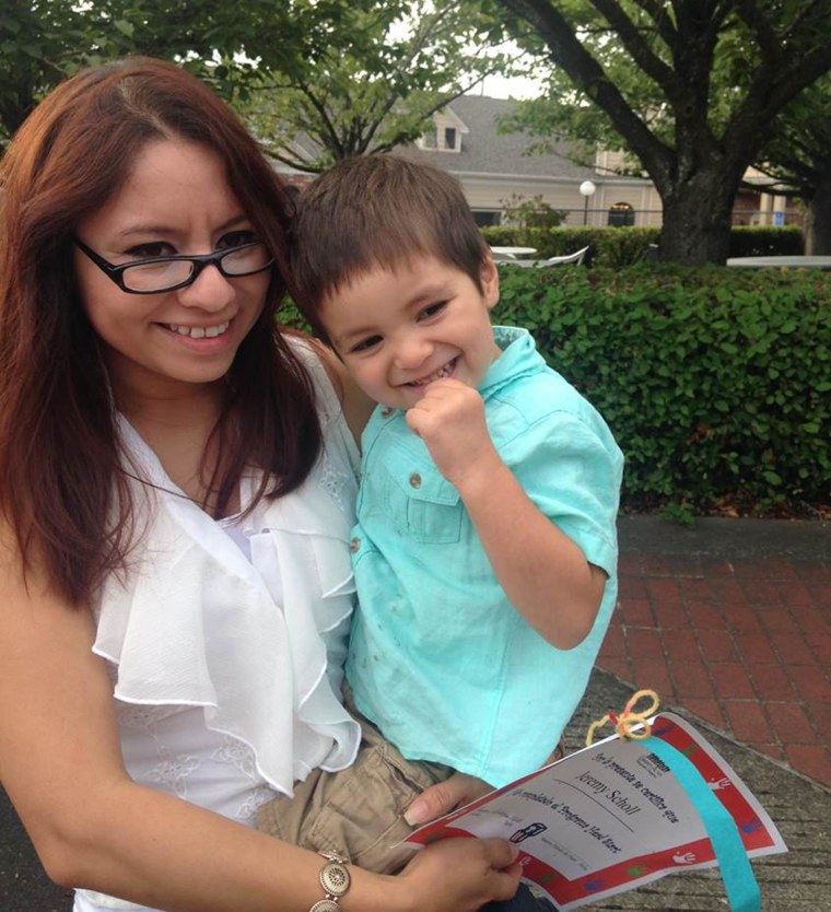 Image: Gabriela Garcia-Ixtacua and her son Jeremy Scholl drowned in Henry Hagg Lake last week in Hillsboro, Oregon.