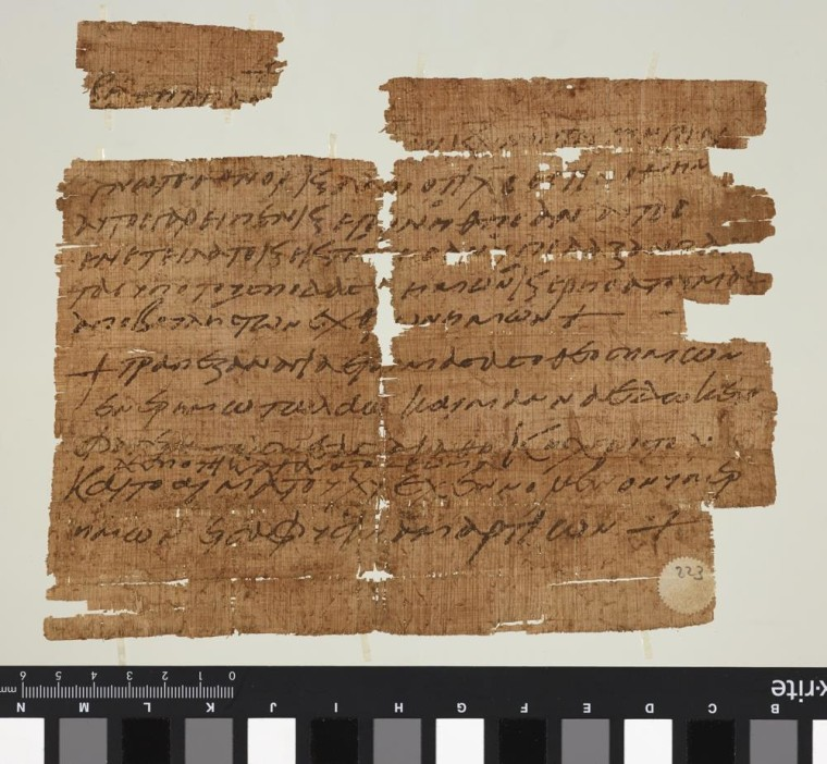 Image: Papyrus dating back some 1,500 years refers to Jesus' Last Supper and manna from heaven