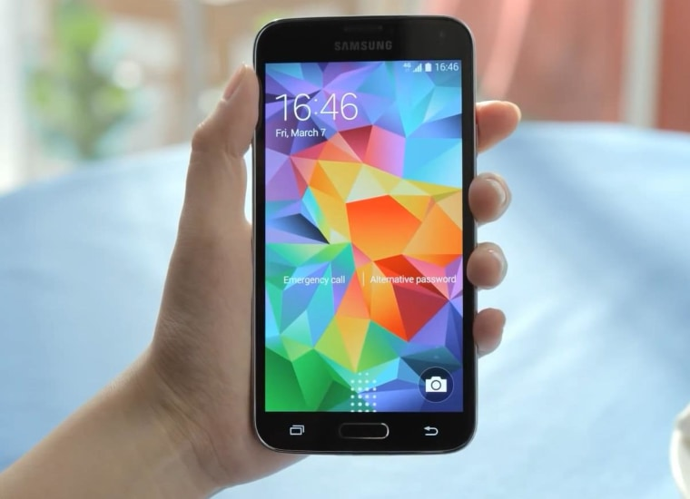 Samsung's Galaxy S 5 has a 5.1-inch screen, and it's actually among the smaller models offered by the company.