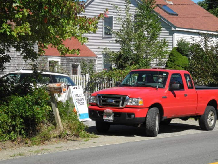 Image: The Hope Elephants facility was blocked off to cars Tuesday in Hope, Maine