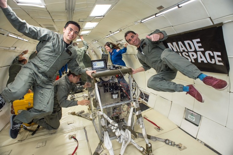 Image: Made In Space in zero-G