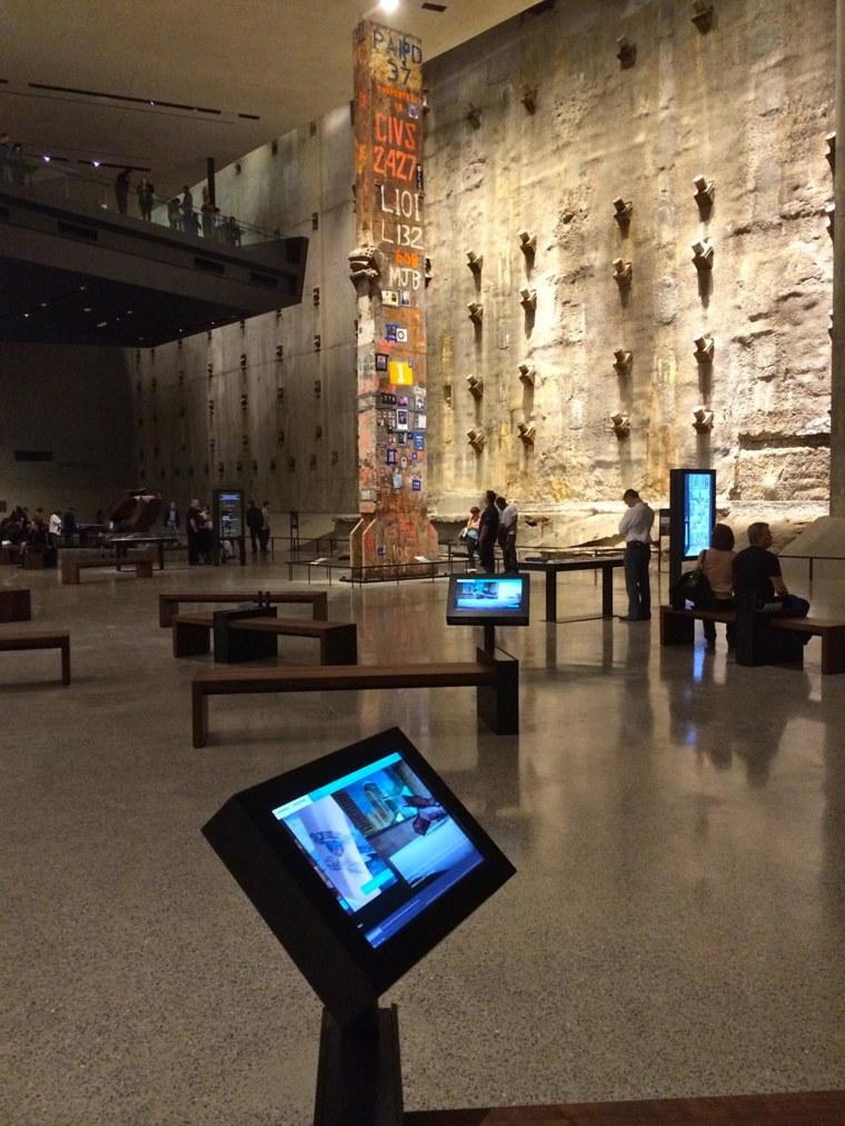 Inside the National September 11 Memorial Museum exhibit, whose design team was led by Ricardo Mulero.