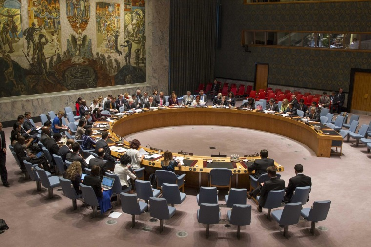 Image: The United Nations Security Council meets on the situation in Ukraine at U.N. Headquarters in New York
