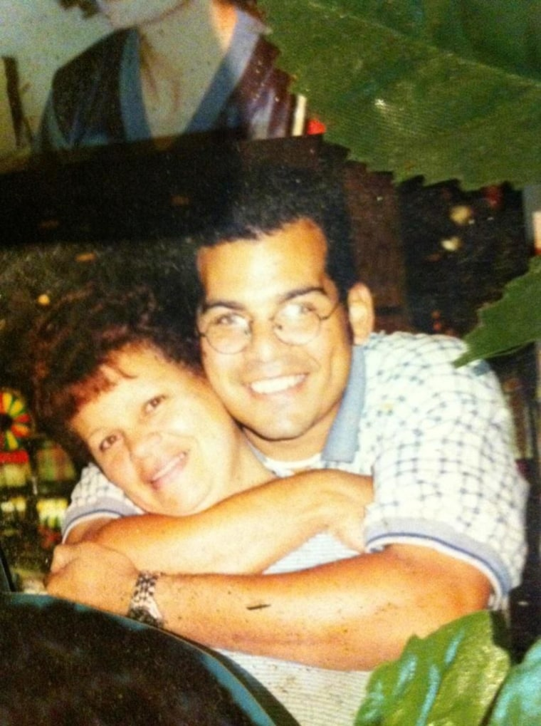 Chris with his late mother, Braudelina, in 1992.