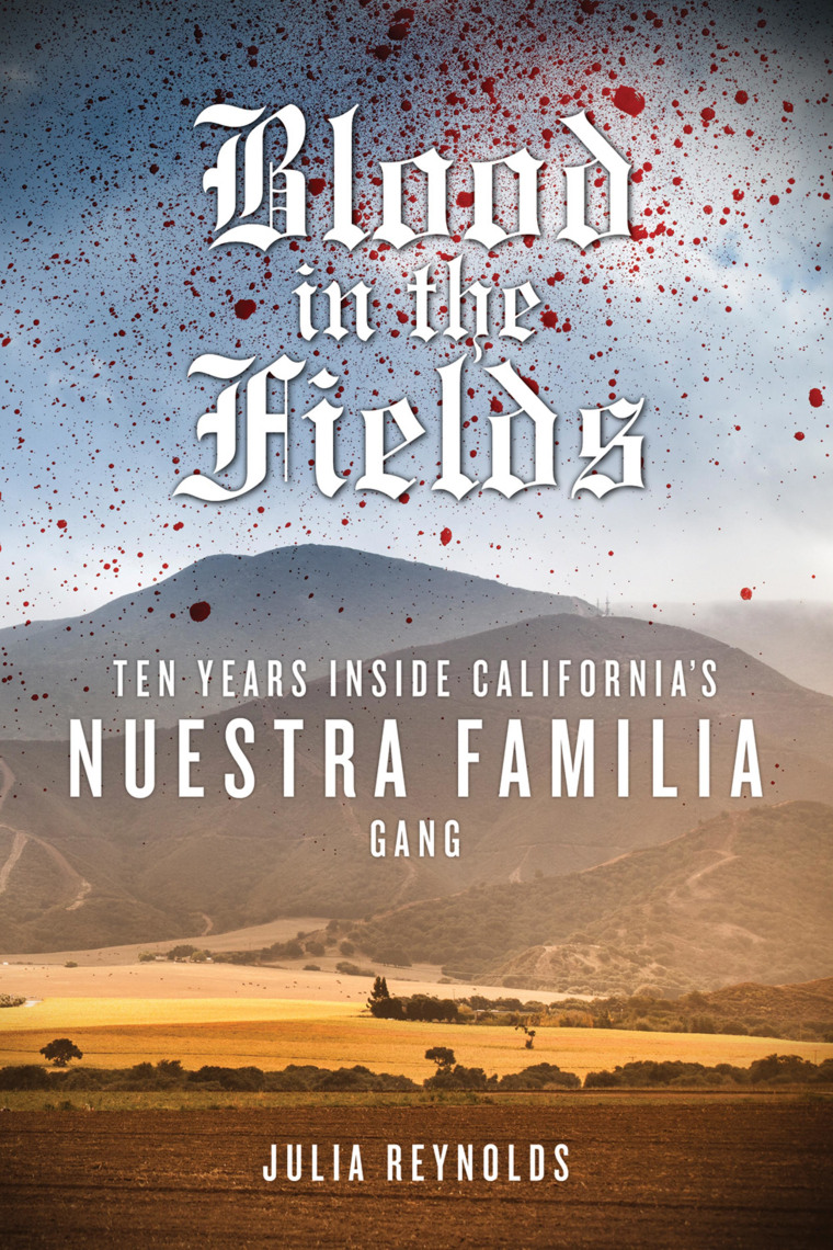 Image: Cover of Julia Reynold's book,  'Blood In the Fields: Ten Years Inside California's Nuestra Familia Gang'