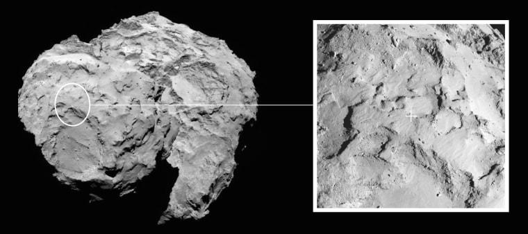 Image: Philae landing site