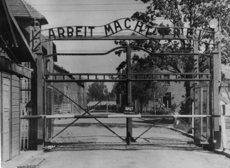 Image: File image of main gate of the Nazi's Auschwitz concentration camp