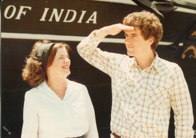 Lillian Lincoln Howell and her son Lincoln Howell, KTSF CEO, during the late 1970s, early 1980s.