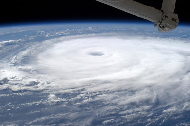 Image: Hurricane Edouard churns across the Atlantic Ocean, as seen from the International Space Station