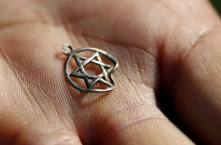 Image: A medallion in the shape of the Star of David