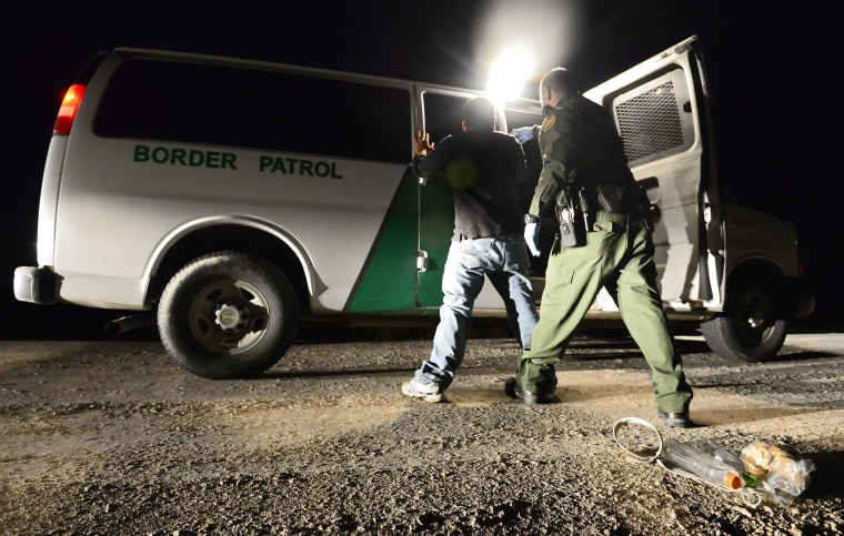 Image: United States Border Patrol works to secure the United States border with Mexico along the Rio Grande river.