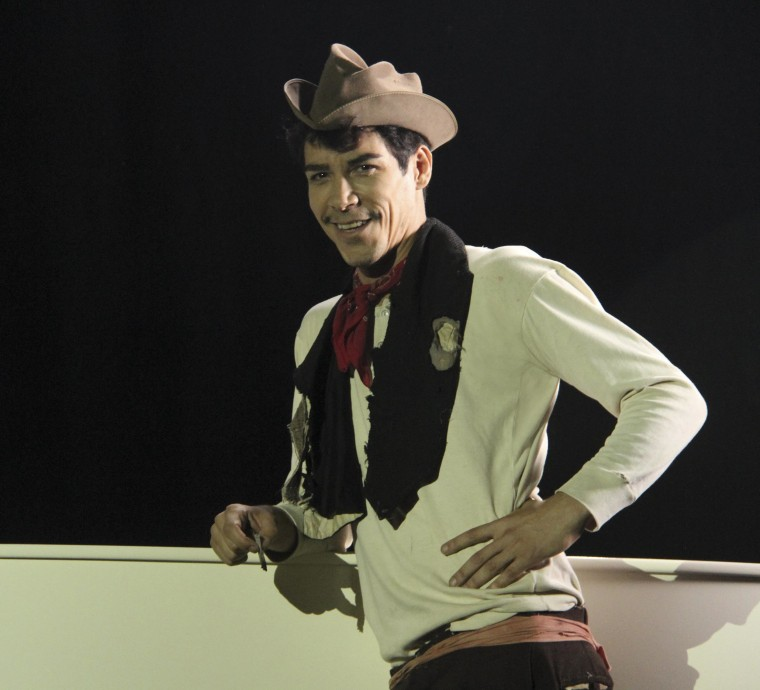 """The actor Oscar Jaenada as the late Mario Moreno, known to millions in the Spanish-speaking world as his beloved character Cantinflas, in the recently released movie """"Cantinflas."""""""